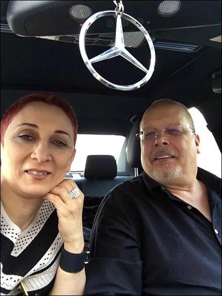 Mercedes Benz Stocking Stuffers, Margarit & Tony in Mercedes