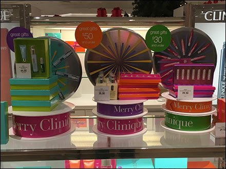 Merry Clinique Gift Ribbon Display