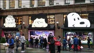 Peanuts Gang Awning Advertising at Macys® Herald Square 3