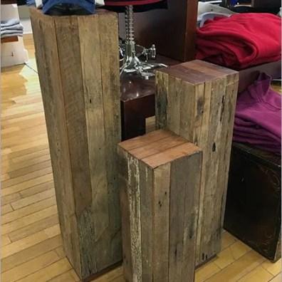 Wood Slat Pedestals at Polo Ralph Lauren