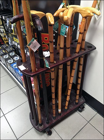 Mobile Cane and Walking Stick Rack