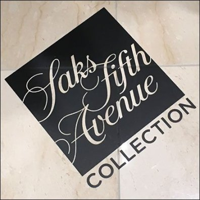 Saks Fifth Avenue Brand Floor Graphic CloseUp