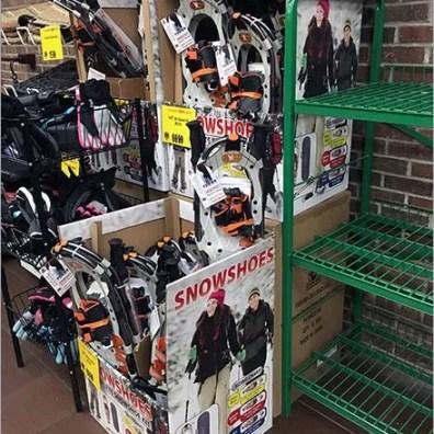 Snowshoe Sales in Supermarkets