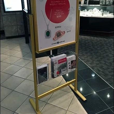 Store Entry Sign Brochure Holder 1