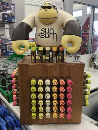 Sun Bum Gorilla Marketing Lip Balm Display