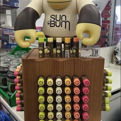 Sun Bum Gorilla Marketing Lip Balm Display
