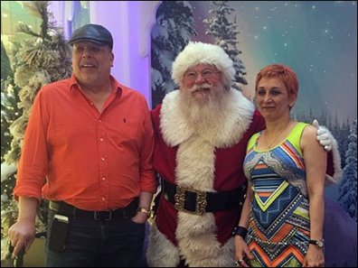 Tony, Margarit & Santa 2015 Closeup