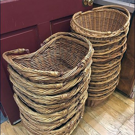 Wicker Shopper Carries in Two Sizes