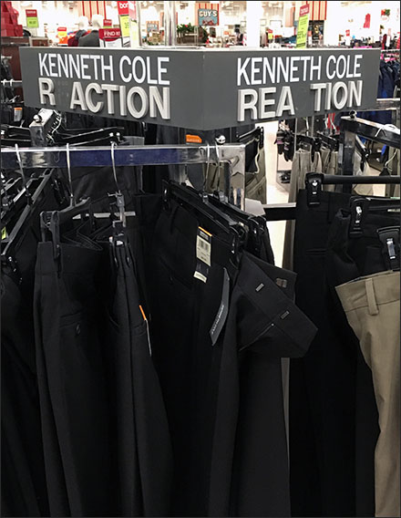 Kenneth Cole Reaction Brand Misspelled