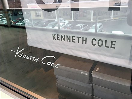 Kenneth Cole Signature Window Branding