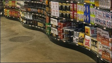Retail Liquor Gondola With a Twist