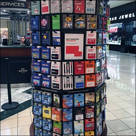 Simon-Says Mall Gift Cards In-The-Round