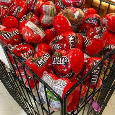 M&M Valentines Day Novelties Bulk Bin 2