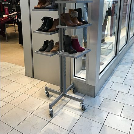 Mobile Footwear Tower Stands At The Ready