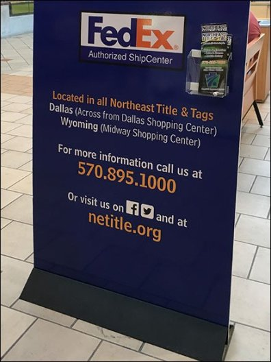 Pack and Send Self-Standing Mall Advertising