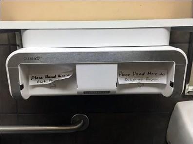 Clean Cut Towel Displenser Remedial Signage 1