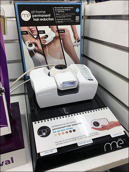 Full-Width Spiral Bind Hair Removal Display