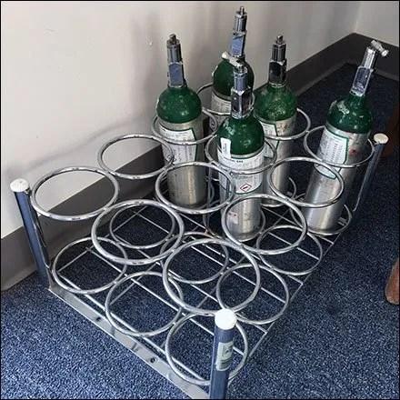 Oxygen Bottle Merchandising Rack Main1