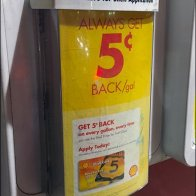 Shell Join & Save Gas Pump Brochure Holder Main