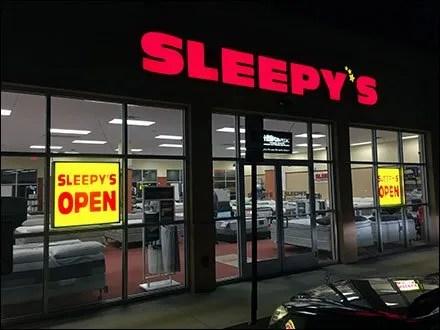 Sleepys Night Time Open Sign 1