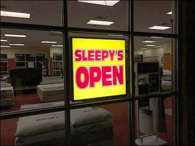 Sleepys Night Time Open Sign 3