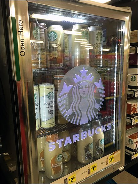 Starbucks Branded Overhead Cooler Main
