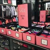 Victoria's Secret Pink Bra Bins in Retail