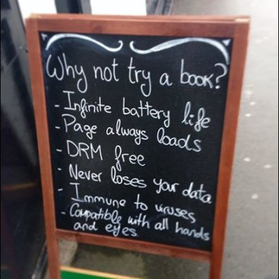 Why Not Try A Book Chalkboard Promotion 440