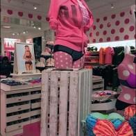 Wood Slate Crate Pedestal at Victorias Secret 1
