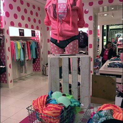 Wood Slate Crate Pedestal at Victorias Secret 3