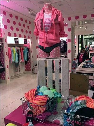 Wood Slate Crate Pedestal at Victorias Secret 3