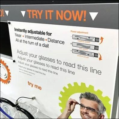 Alden® Adjustable Focus Eyewear Try Me 2