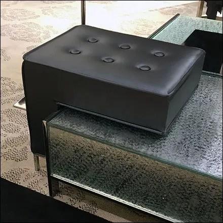 Cantilever Stool Retail Seating Closeup