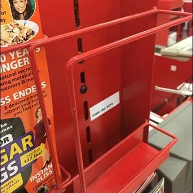 Cashwrap Staggered Magazine Rack 3