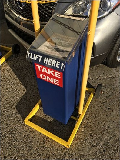 Costco Outdoor Auto Sales Literature Rack 2