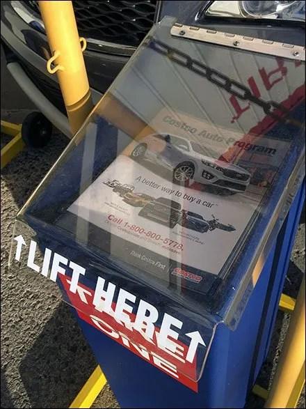 Costco Outdoor Auto Sales Literature Rack 3