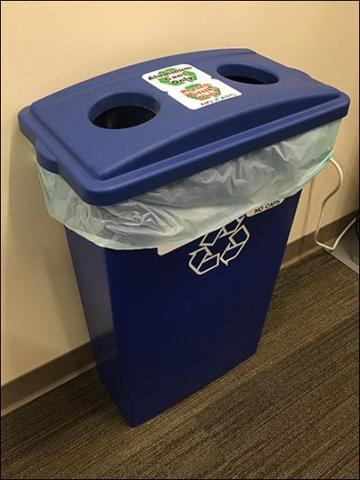 Dual Openning Recycling Bin Perspective