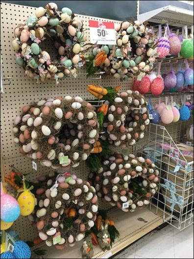 Easter Egg Wreaths Pegboard Hooked 1