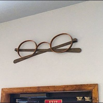 Eyeglass Frames As Wall Decor 2