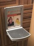 French Girls Restroom Stall Advertising Detail