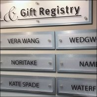 Gift Registry Brand Name Dropping Feature