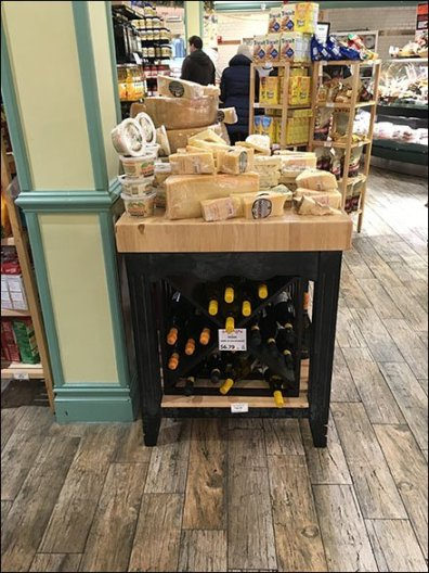 Gourmanoff Wine and Cheese Merchandising Island 1