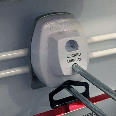 InVue Locking Anti THeft Hook For Slatwire Closeup