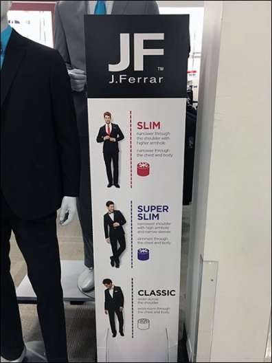 Size and Style Guidance In-Store by J. Ferrar
