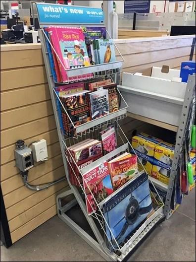 Literature Rack Slope Upward Facing 2