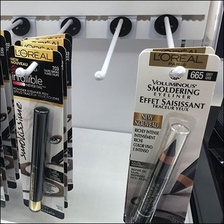 L'Oreal Display Hooks for Indexed Bar