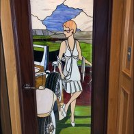 Mercedes Womens Restroom Stained Glass 1