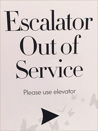Neiman Marcus Branded Escalator Out-Of-Service 3