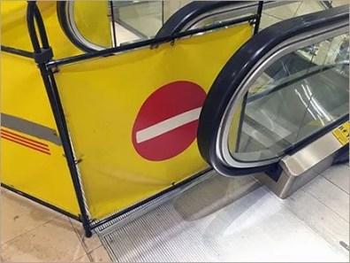 Retail Repair Barricade