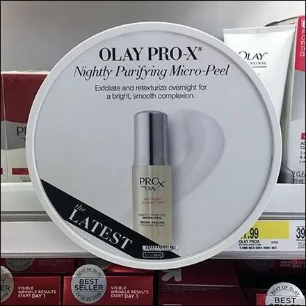 Olay Pro-X Circular Shelf Edge Sign Holder Front